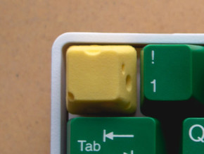 Cherry MX Cheese Keycap in Yellow Processed Versatile Plastic