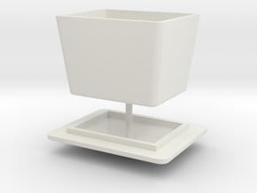 RhB Sand Box in White Natural Versatile Plastic