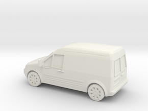 1/87 2002-13 Ford Transit Connect in White Natural Versatile Plastic