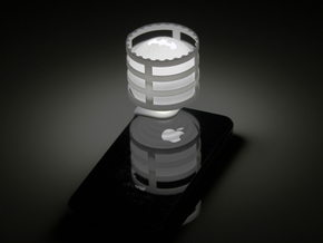 Lightclip: Batman, iPhone 4/4S in White Natural Versatile Plastic