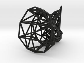 Rhino head wireframe in Black Natural Versatile Plastic