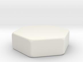 Hive Piece Template in White Natural Versatile Plastic