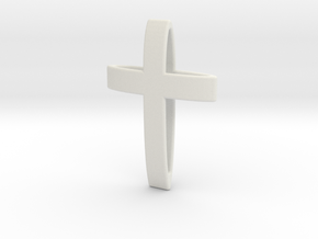 CrossOvalBand35-25-5-1 in White Natural Versatile Plastic