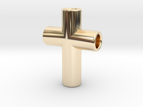 CrossPipes24-18-6-1 in 14K Yellow Gold