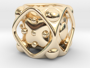 Dice No.2 L (balanced) (3.6cm/1.42in) in 14k Gold Plated Brass