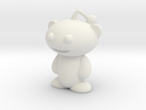 Reddit Alien Figure 3 inches in White Strong & Flexible