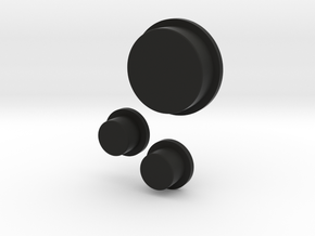 Buttons in Black Natural Versatile Plastic