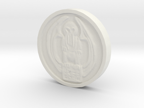 Cthulhu Coin in White Natural Versatile Plastic