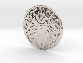 Nyarlathotep Coin in Rhodium Plated Brass