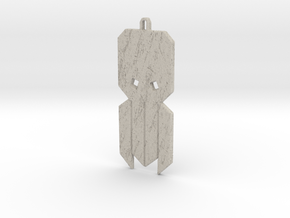Cthulhu Tribal Amulet in Natural Sandstone