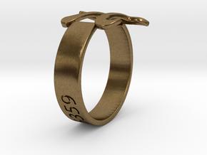 PI Ring Size8 in Natural Bronze