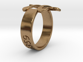 PI Ring Size6 in Natural Brass