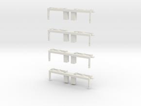 Drehgestellblenden für MÜBAG Vierachser in White Strong & Flexible