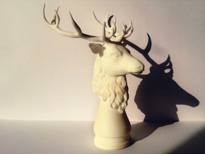 Deer head in White Strong & Flexible
