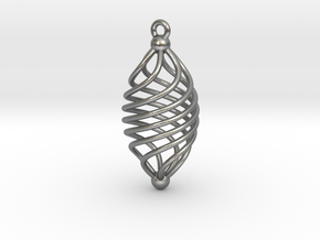 EARRING TWISTED in Natural Silver