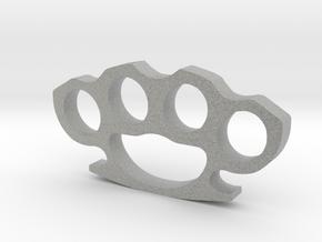 Brass Knuckles  in Metallic Plastic