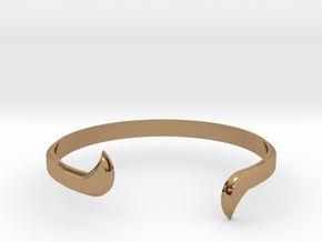 Thin Winged Cuff in Polished Brass