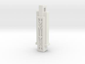 Slender Deco [Pendant] in White Natural Versatile Plastic
