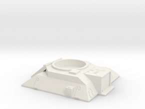 Turret Emplacement in White Natural Versatile Plastic