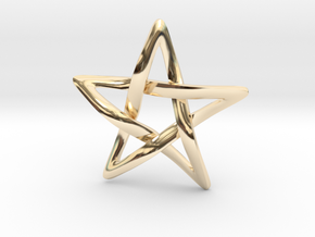 Star Ever Pendant in 14k Gold Plated Brass