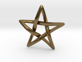 Star Ever Pendant in Natural Bronze