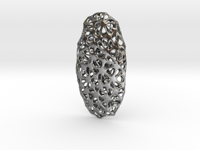 Voronoi Pendant in Polished Silver