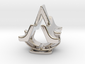 Assassins Creed Desk Sculpture in Rhodium Plated Brass