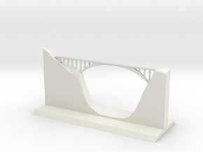 Salginatobel Bridge 1:500 in White Natural Versatile Plastic