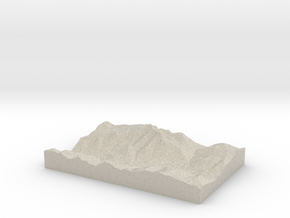 Model of Sacred Mound Mine in Natural Sandstone
