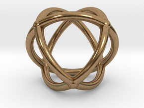 0072 Stereographic Polyhedra - Octahedron in Natural Brass
