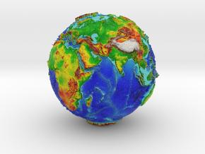 Topographic Earth  in Full Color Sandstone