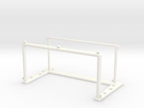 Subbuteo Goal model 22 in White Processed Versatile Plastic