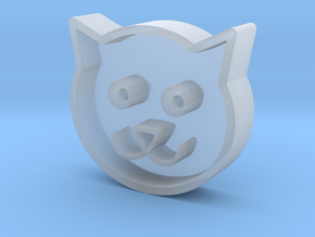 Cat head in Smooth Fine Detail Plastic