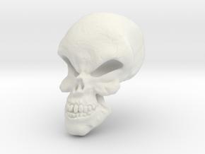 Little Scary Skull in White Natural Versatile Plastic