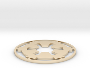 "Imperial Coaster - 3.5"" in 14k Gold Plated Brass"