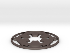 """Imperial Coaster - 3.5"""" in Polished Bronzed Silver Steel"""