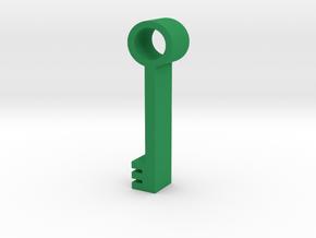 Key in Green Processed Versatile Plastic