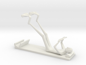 The Reading Man Iphone 6 stand in White Strong & Flexible