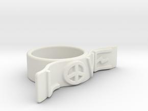 Love Ring in White Natural Versatile Plastic