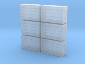 N 6 Fish Crates in Smooth Fine Detail Plastic