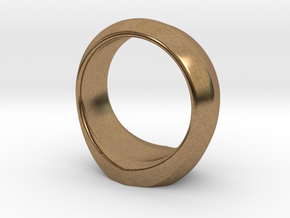 MTG Swamp Mana Ring (Size 12) in Natural Brass