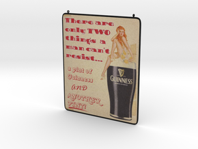 Pin Up Guinness in Full Color Sandstone