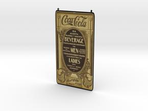 Coca Cola Vintage Ad in Full Color Sandstone