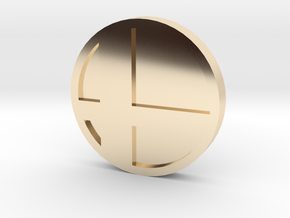 Super Smash Brothers Coin in 14k Gold Plated Brass
