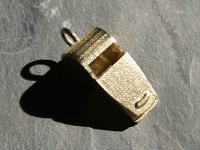 Whistle Pendant in Raw Brass