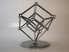 Hypercube in Black Natural Versatile Plastic