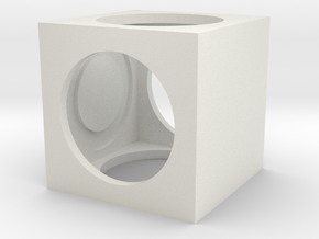 Moving Cube  in White Natural Versatile Plastic
