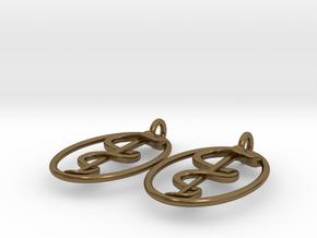 Rod Of Asclepius Earrings - Mini in Polished Bronze
