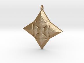 Festive Geo Star Pendant in Matte Gold Steel