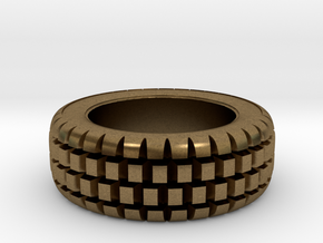 Hard mud tire for 1/24 scale model car in Natural Bronze